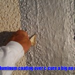 You can't use aluminum roof coating on a c-cure roof