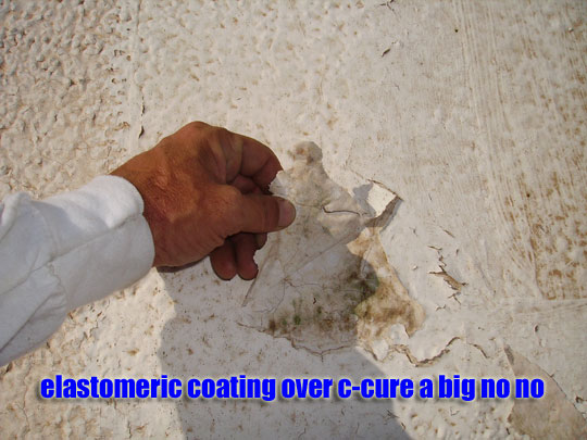 Elastomeric coated c-cure repair