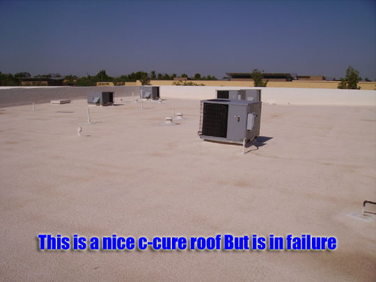 Failed c-cure roof due to improper application