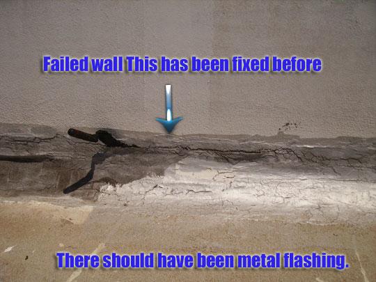 Incorrect wall detail fails